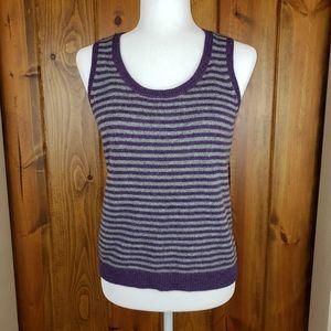 Boden Wool Purple & Gray Sweater Vest, size 10